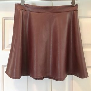 Iris Los Angeles Faux Leather Skirt